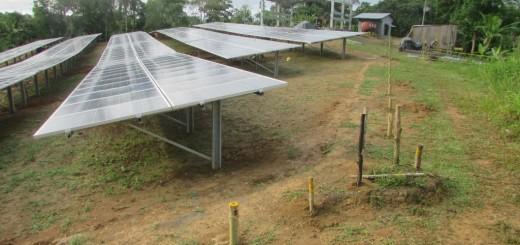 Solar panels San Martin de Amacayacu