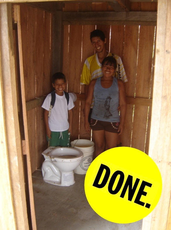 done toilet!