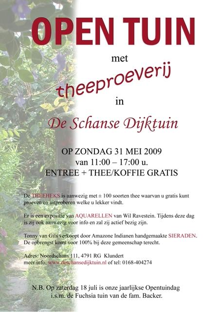 Poster Schanse Dijktuin 31 mei 2009